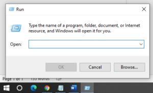 windows 10 run