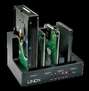 Alta solutie pentru utilizarea hardului tau vechi - Docking station LINDY - 4 HDD