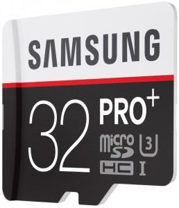 Alte carduri miniatura de mare viteza - Samsung Micro SDHC PRO 32 GB - UHS-I+