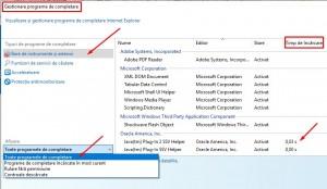 Alte consideratii despre extensiile browserelor - Internet Explorer-Manage Add-on