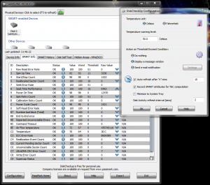 Alte programe de diagnosticare ale hardului - PassMark DiskCheckup -- Configurare