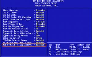 Alti parametrii SMART si semnificatia lor - Setarea disponibilitatii in BIOS