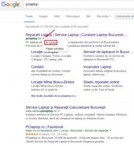 Cautari deosebite cu Google - Vizualizare din cache
