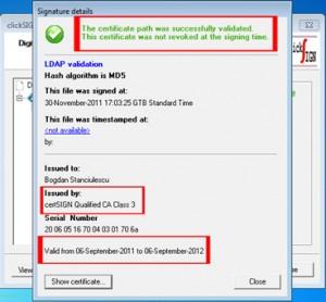 Certificate digitale calificate de la CertSign