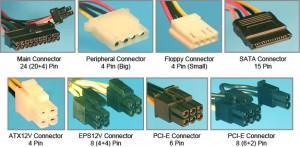 Conectorii unei surse pentru computer