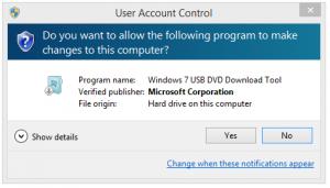 Crearea stickului USB bootabil cu Win 10 - UAC (User Account Control)