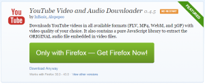 Cum sa descarci muzica din Youtube - Add-on Firefox