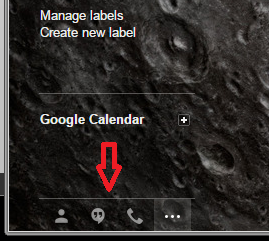 Cum sa utilizam eficient Hangouts - Pozitionarea in Gmail