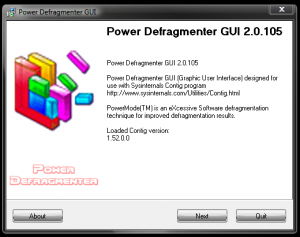 Defragmentarea hardului cu Power Defragmenter - Power Defragmenter