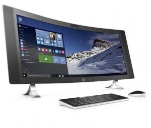 Despre computerele compacte - Gigantul HP AiO cu ecran curb