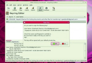 Functii deosebite ale programului GnuPG - Key-ring Editor