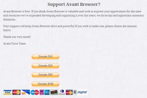 Inca mai cautati un browser bun - Avant - Donatii