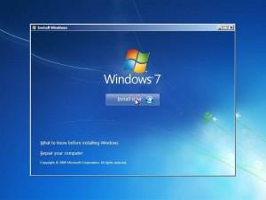 Instalare Windows 7 - Selectare actiune - instalare sau reparare