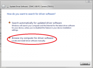 Instalarea manuala a driverelor - Update Driver Software