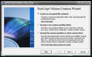 Instalarea si utilizarea TrueCrypt - Alegerea elementelor pentru criptare