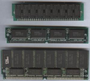 Modele constructive ale memoriei RAM - SIMM cu 30-68-72 pini