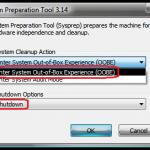 Realizarea imaginii sistemului de operare pentru copiere in reteaua firmei