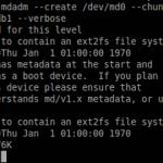 Realizarea practica a unei configuratii RAID in Linux – continuare