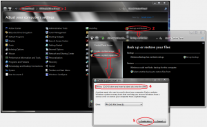 Realizarea unui CD de recuperare cu Windows 7 - pornirea programului