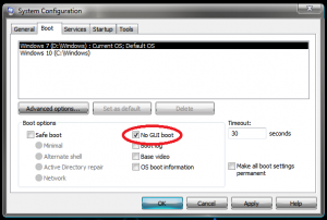 Setari pentru bootare mai rapida - Setare No GUI Boot