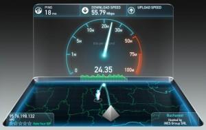 Testarea conexiunii la internet