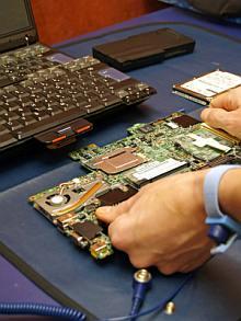 service laptop defect